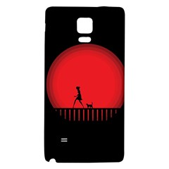 Girl Cat Scary Red Animal Pet Galaxy Note 4 Back Case