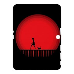 Girl Cat Scary Red Animal Pet Samsung Galaxy Tab 4 (10 1 ) Hardshell Case