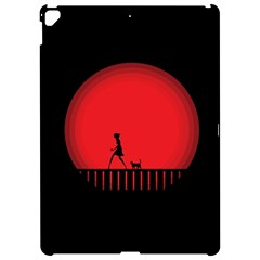 Girl Cat Scary Red Animal Pet Apple Ipad Pro 12 9   Hardshell Case