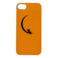Angle Moon Scene Girl Wings Black Apple Iphone 5s/ Se Hardshell Case