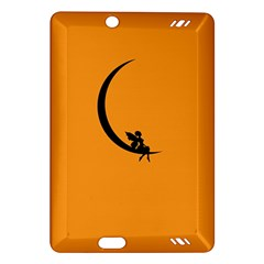 Angle Moon Scene Girl Wings Black Amazon Kindle Fire Hd (2013) Hardshell Case by Nexatart