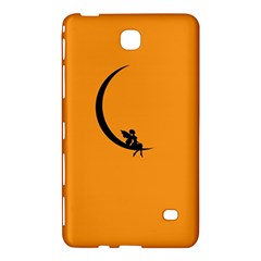Angle Moon Scene Girl Wings Black Samsung Galaxy Tab 4 (8 ) Hardshell Case