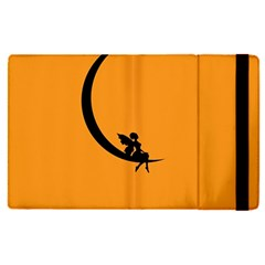 Angle Moon Scene Girl Wings Black Apple Ipad Pro 9 7   Flip Case