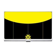 Flower Land Yellow Black Design Business Card Holders