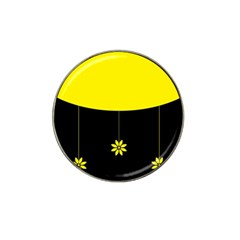 Flower Land Yellow Black Design Hat Clip Ball Marker (10 Pack) by Nexatart