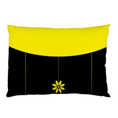 Flower Land Yellow Black Design Pillow Case