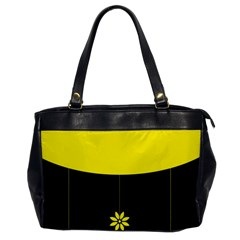 Flower Land Yellow Black Design Office Handbags
