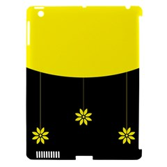 Flower Land Yellow Black Design Apple Ipad 3/4 Hardshell Case (compatible With Smart Cover) by Nexatart