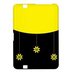 Flower Land Yellow Black Design Kindle Fire Hd 8 9  by Nexatart