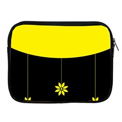 Flower Land Yellow Black Design Apple Ipad 2/3/4 Zipper Cases