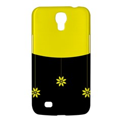Flower Land Yellow Black Design Samsung Galaxy Mega 6 3  I9200 Hardshell Case