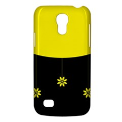 Flower Land Yellow Black Design Galaxy S4 Mini by Nexatart