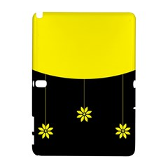 Flower Land Yellow Black Design Galaxy Note 1