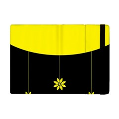 Flower Land Yellow Black Design Ipad Mini 2 Flip Cases