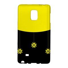 Flower Land Yellow Black Design Galaxy Note Edge by Nexatart