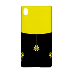 Flower Land Yellow Black Design Sony Xperia Z3+ by Nexatart