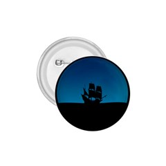 Ship Night Sailing Water Sea Sky 1 75  Buttons by Nexatart