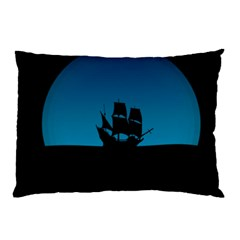 Ship Night Sailing Water Sea Sky Pillow Case
