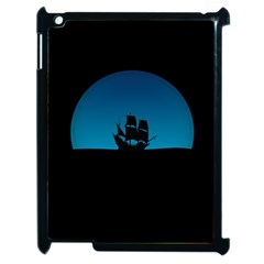 Ship Night Sailing Water Sea Sky Apple Ipad 2 Case (black)