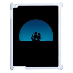 Ship Night Sailing Water Sea Sky Apple Ipad 2 Case (white) by Nexatart