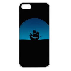 Ship Night Sailing Water Sea Sky Apple Seamless Iphone 5 Case (clear)