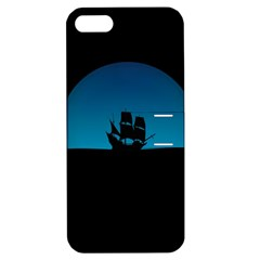 Ship Night Sailing Water Sea Sky Apple Iphone 5 Hardshell Case With Stand by Nexatart