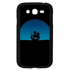Ship Night Sailing Water Sea Sky Samsung Galaxy Grand Duos I9082 Case (black)