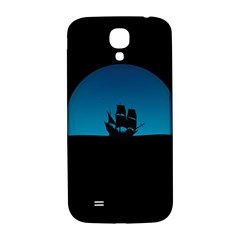 Ship Night Sailing Water Sea Sky Samsung Galaxy S4 I9500/i9505  Hardshell Back Case