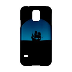 Ship Night Sailing Water Sea Sky Samsung Galaxy S5 Hardshell Case