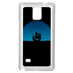 Ship Night Sailing Water Sea Sky Samsung Galaxy Note 4 Case (white)