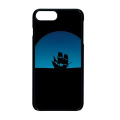 Ship Night Sailing Water Sea Sky Apple Iphone 7 Plus Seamless Case (black)