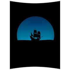 Ship Night Sailing Water Sea Sky Back Support Cushion by Nexatart
