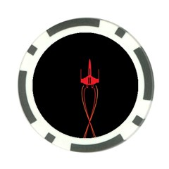 Ship Space Spaceship Poker Chip Card Guard