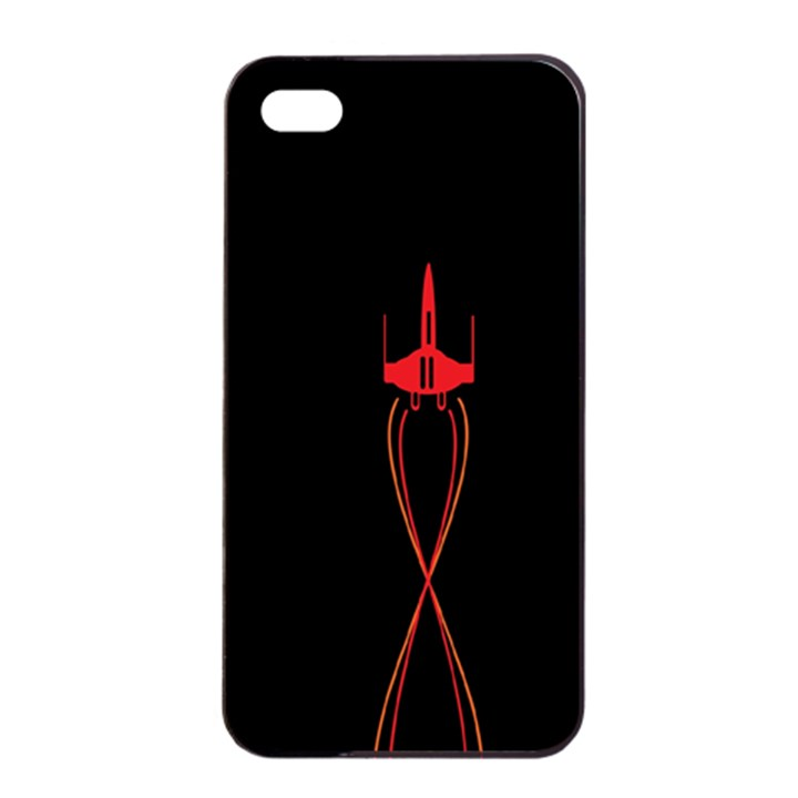 Ship Space Spaceship Apple iPhone 4/4s Seamless Case (Black)