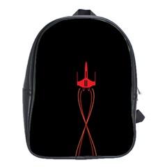 Ship Space Spaceship School Bag (xl) by Nexatart
