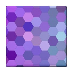 Purple Hexagon Background Cell Tile Coasters