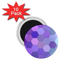 Purple Hexagon Background Cell 1 75  Magnets (10 Pack)  by Nexatart
