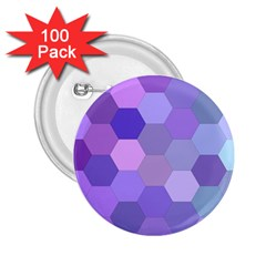 Purple Hexagon Background Cell 2 25  Buttons (100 Pack)