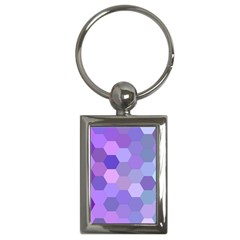 Purple Hexagon Background Cell Key Chains (rectangle)