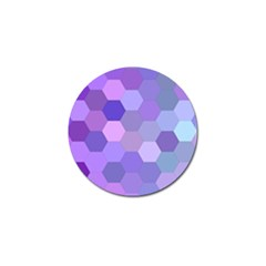 Purple Hexagon Background Cell Golf Ball Marker (4 Pack)