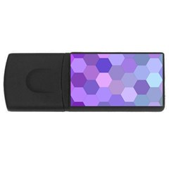 Purple Hexagon Background Cell Rectangular Usb Flash Drive