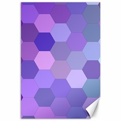 Purple Hexagon Background Cell Canvas 12  X 18