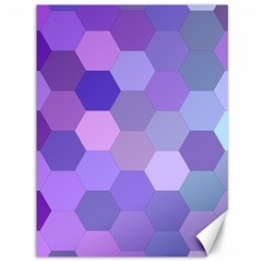 Purple Hexagon Background Cell Canvas 36  X 48