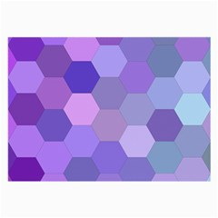 Purple Hexagon Background Cell Large Glasses Cloth by Nexatart
