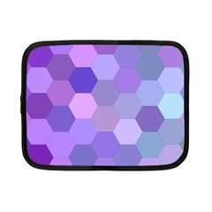 Purple Hexagon Background Cell Netbook Case (small)  by Nexatart