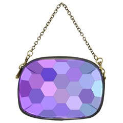 Purple Hexagon Background Cell Chain Purses (two Sides)
