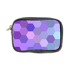 Purple Hexagon Background Cell Coin Purse
