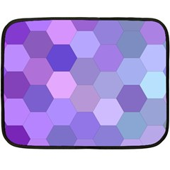 Purple Hexagon Background Cell Double Sided Fleece Blanket (mini)