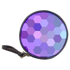 Purple Hexagon Background Cell Classic 20 Cd Wallets
