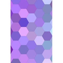 Purple Hexagon Background Cell 5 5  X 8 5  Notebooks